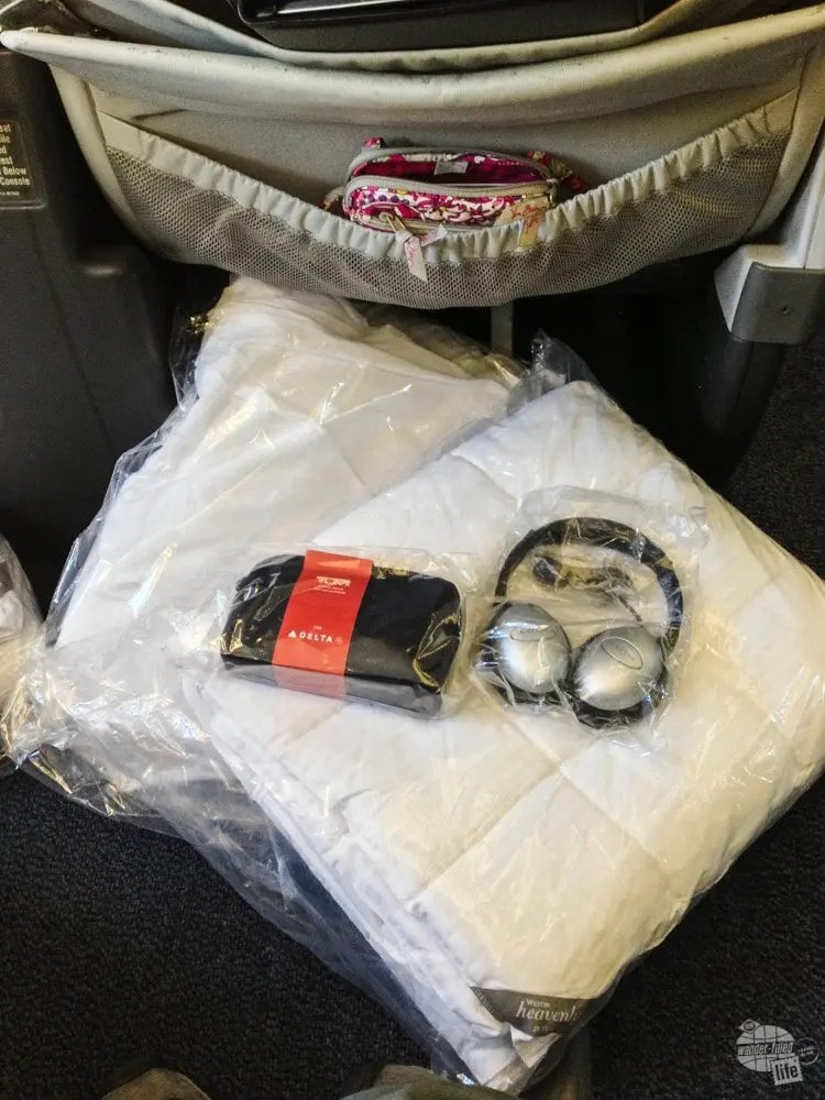 The Overnight amenities provided by Delta