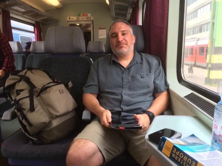 Grant Enjoying the Train Ride