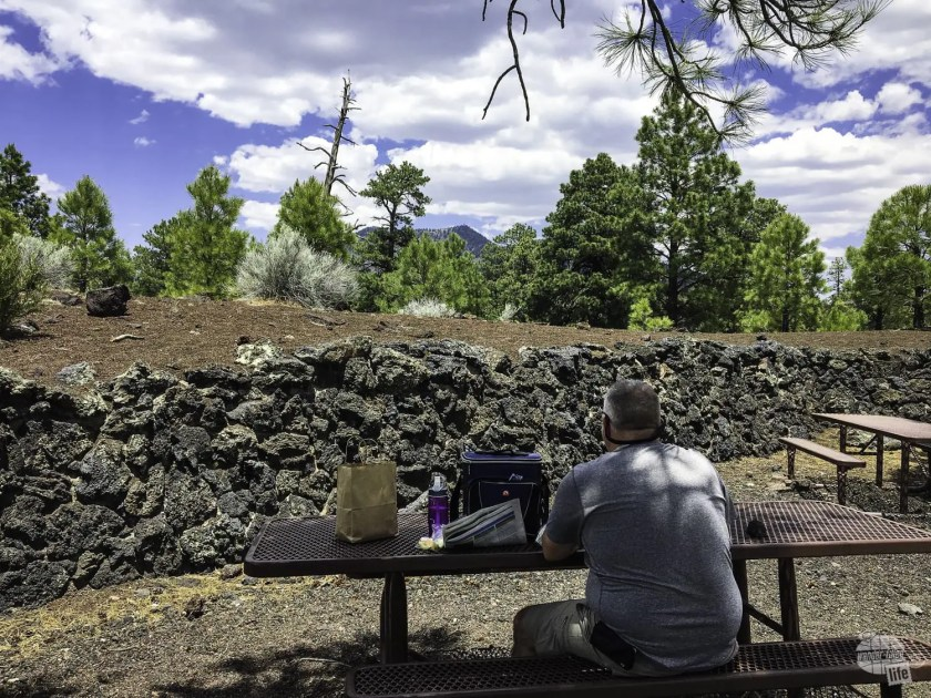 Picnic lunch in Sunset Crater Volcano National Monument