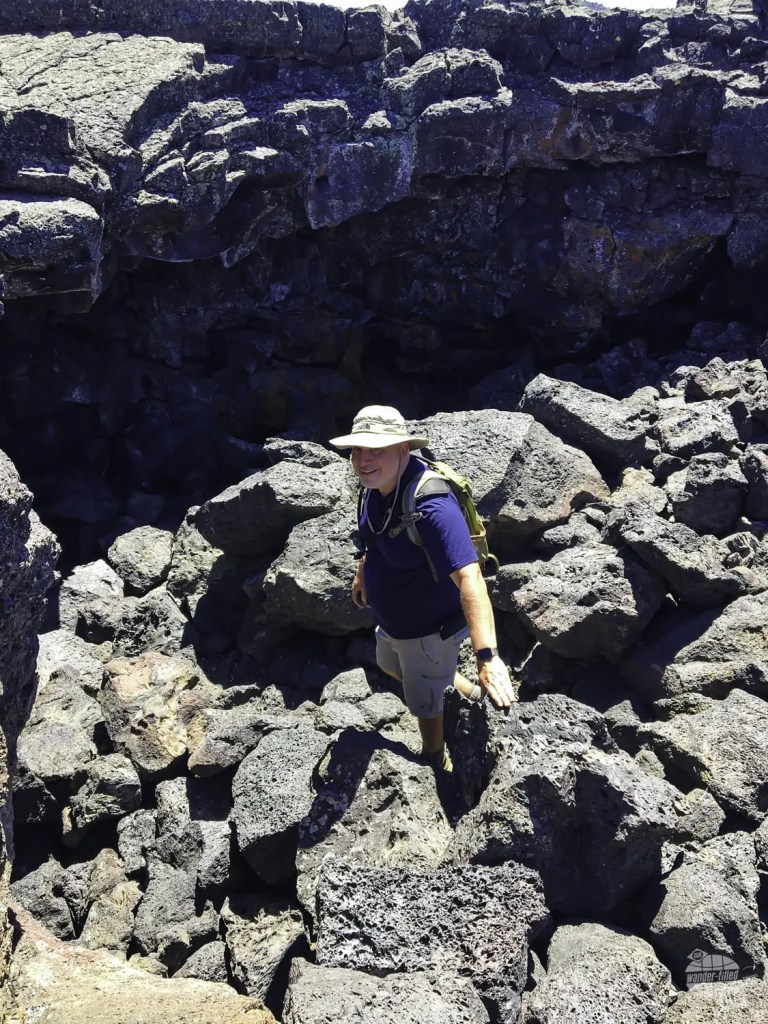 Getting into the caves of Craters of the Moon National Monument