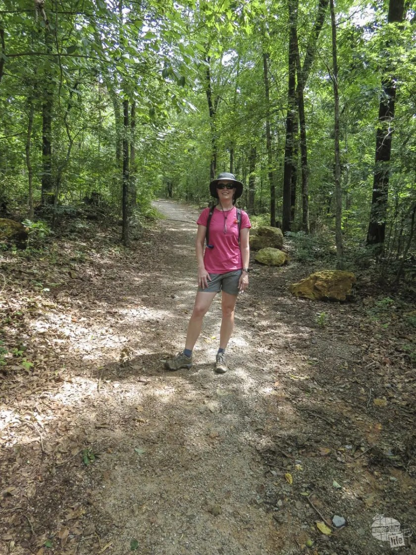 The first part of Hot Springs Mountain Trail is tough!