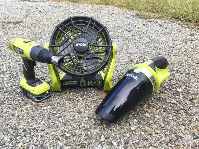 ONE+ gear from Ryobi makes for great RV gadgets