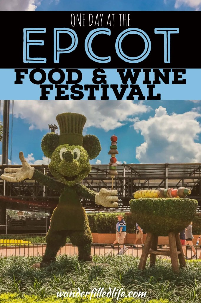 One day at Epcot's International Food & Wine Festival. Includes our favorite dishes and advice on how to plan your visit and budget your time and money.