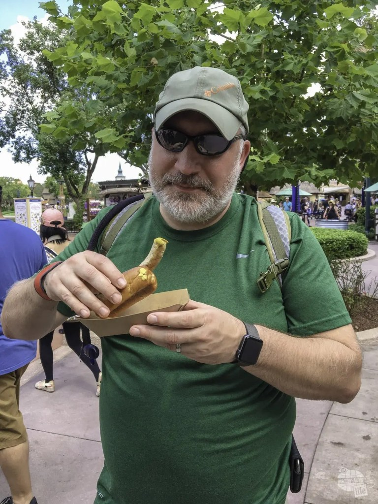 A tasty bratwurst at the Food & Wine Festival.