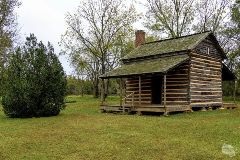 The Scruggs Cabin at Cowpens National Battlefield.