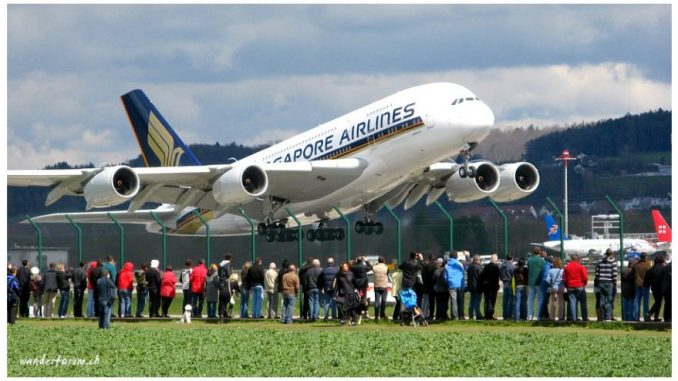 A380 in Zürich Kloten