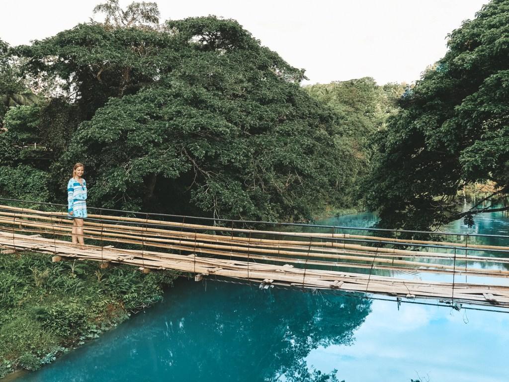 Bohol / Filipiny: Bamboo Hanging Bridge, wandergirl filipiny bohol blog o podróżach blog podróżniczy philippines