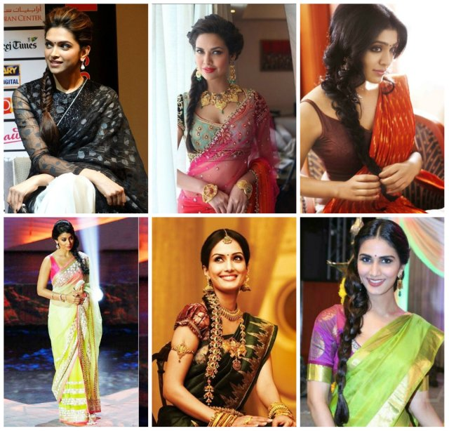 12 best hairstyles for party wear sarees - wanderglobe
