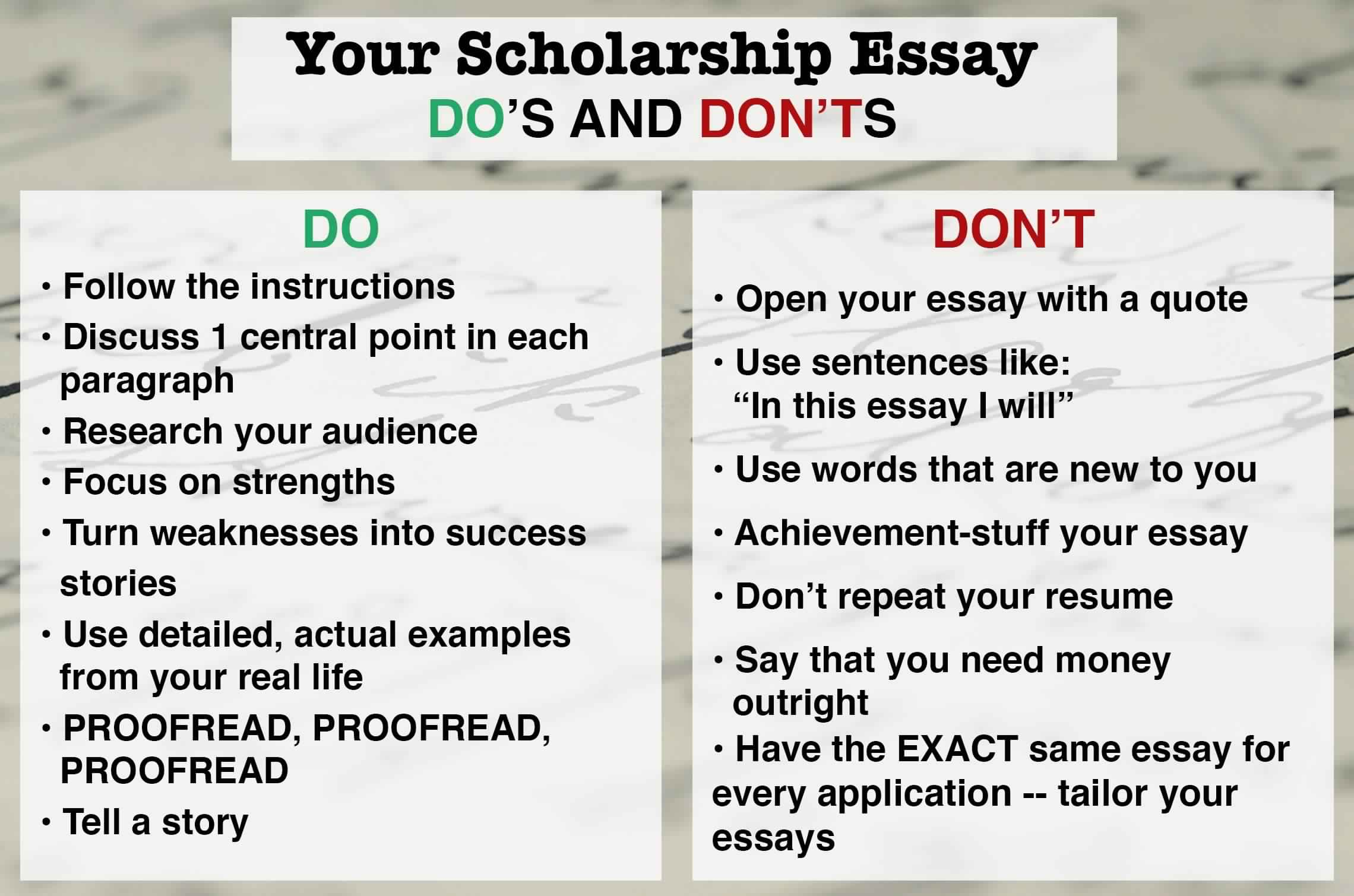 How Should Students Write Scholarship Essay