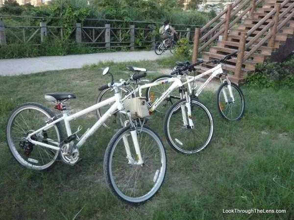 getting around taipei - bikes