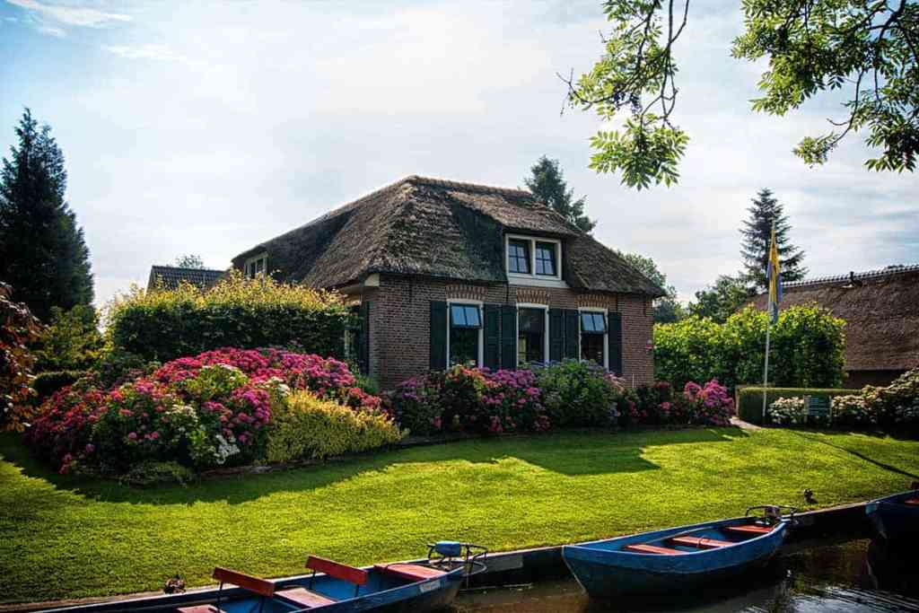 House in Giethoorn Village, Netherlands