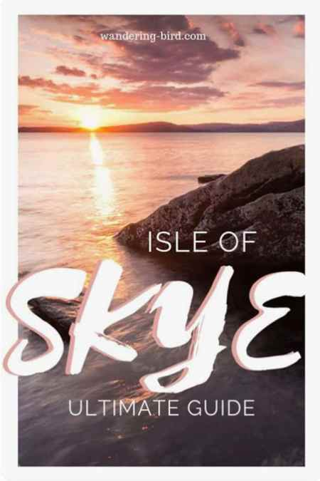 Isle of Skye Scotland is one of the most beautiful UK travel destinations. This road trip itinerary is perfect for a weekend break in summer or winter. See the fairy pools, castles, waterfalls and more! #skye #scotland #itinerary #guide