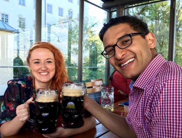 Starkbier drinking on a day trip from Munich to Andechs Monastery<font color=