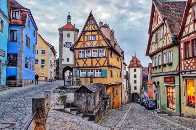 Fairy tale town Germany Rothenburg ob der Tauber Bavaria Happy to Wander