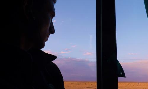 Bus Trip from Homs to Palmyra, Syria