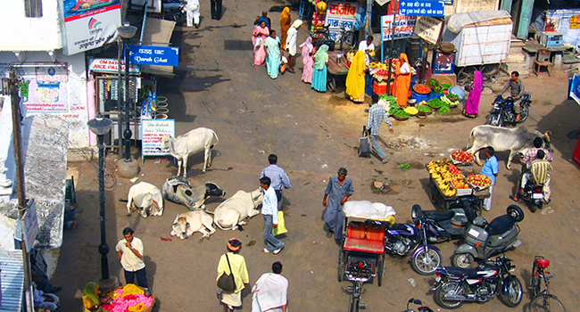 Intersection in India