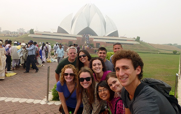 Wandering Earl Group at Lotus Temple