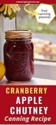apple cranberry chutney mason jar