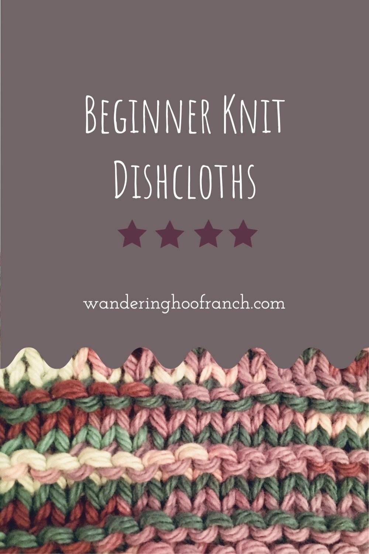 Beginner knit Dishcloths Pin Image