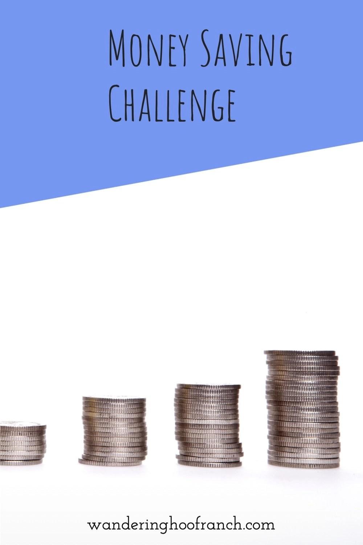 money saving challenge pin image