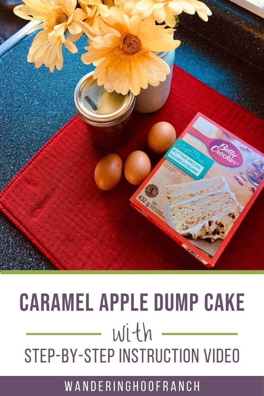 cake ingredients sitting on counter top
