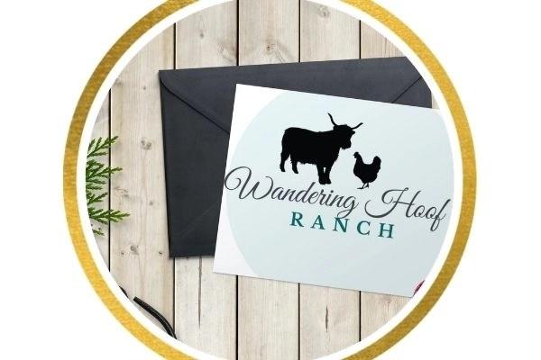 farm name business greeting card
