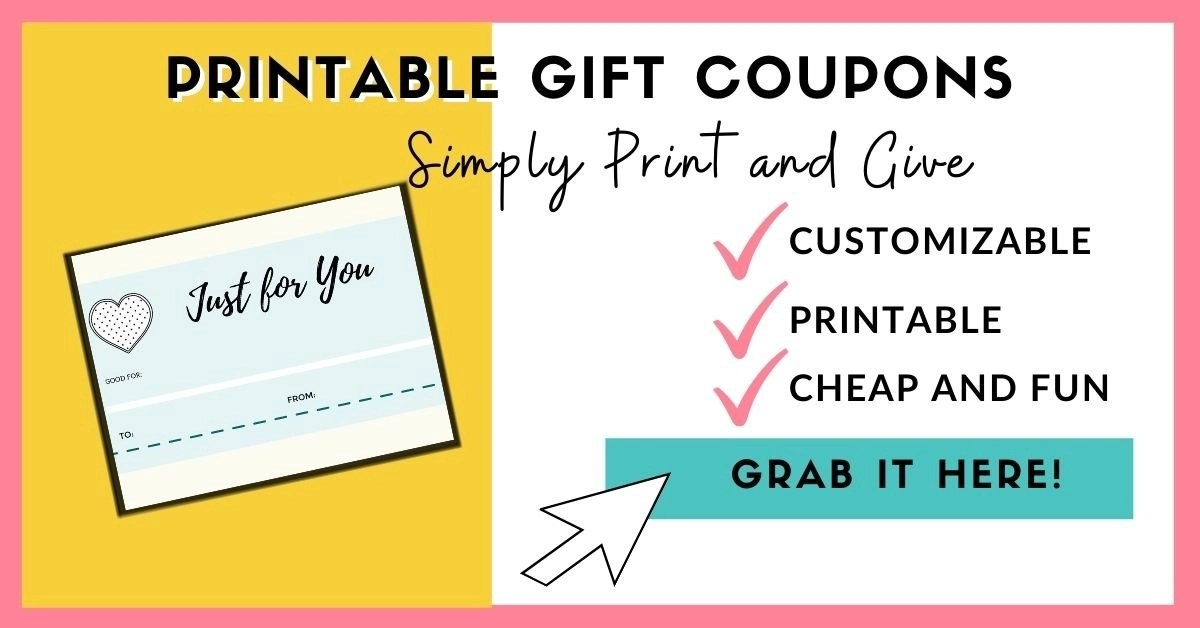 printable gift coupons perfect for DIY gift baskets ideas of all kinds.