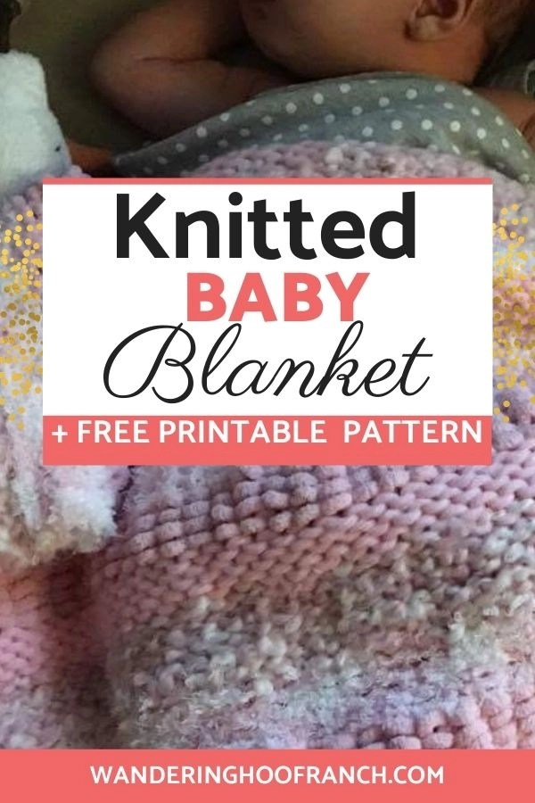 free knitted baby blanket pattern pin image of a baby girl with her baby pink blanket knitted by me