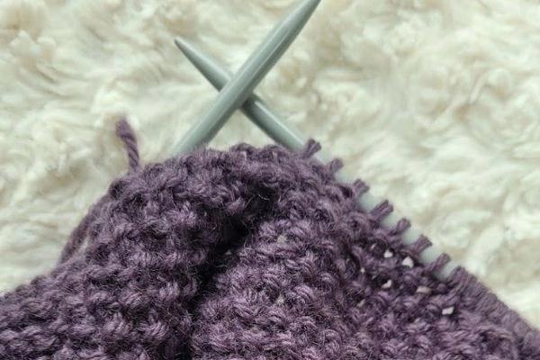 seed stitch knitting