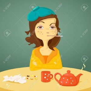7346188-Cartoon-girl-with-illness-illustration-Stock-Vector-sick-cartoon-flu