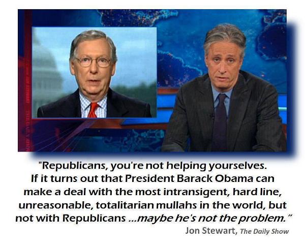 John Stewart on Obama's negotiation skills