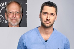 "Dr. Eric Manheimer (inset) and ""New Amsterdam"" star Ryan Eggold. Kristina Bumphrey/StarPix; Jeff Riedel/NBC"