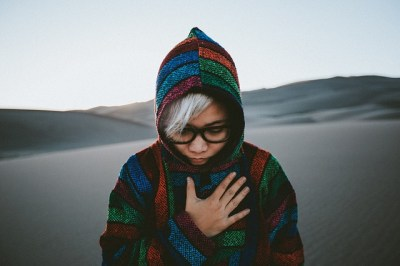 Woman in hoodie, Photo by StockSnap