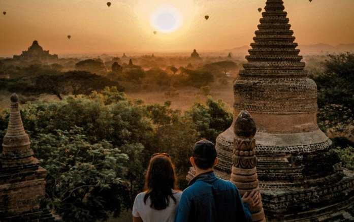 Sunrise in Bagan, Myanmar