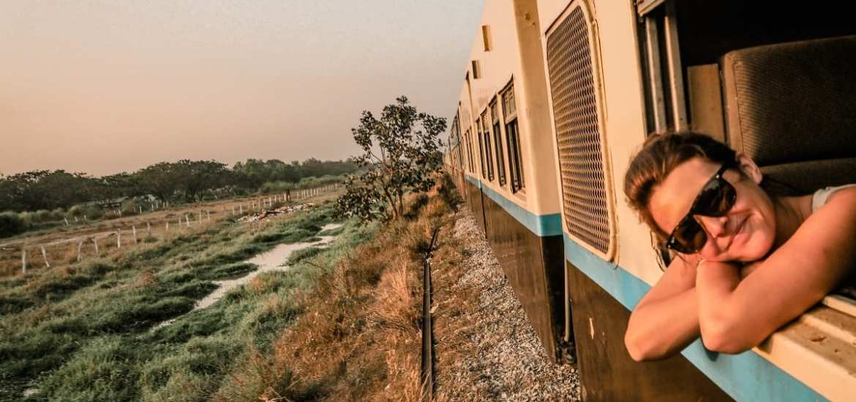 Train ride to Bagan from Yangon in Myanmar