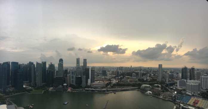 Views from the Marina Bay Hotel