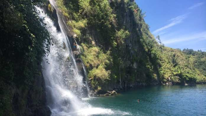 Lake Toba waterfall