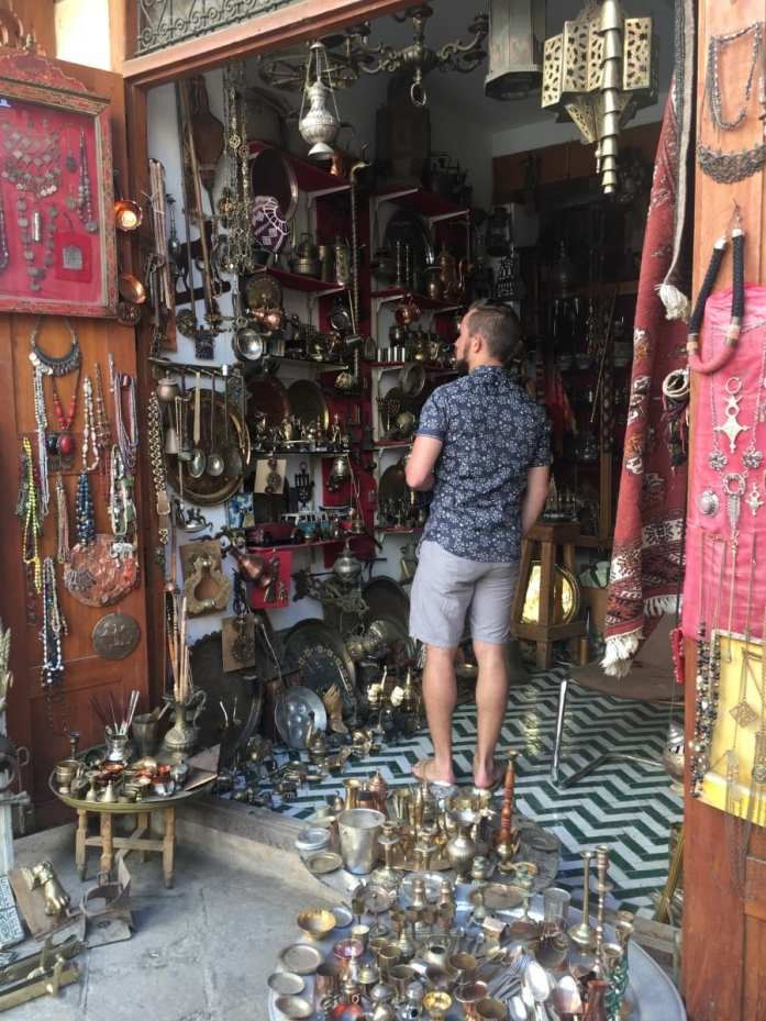 shopping the souks of Morocco