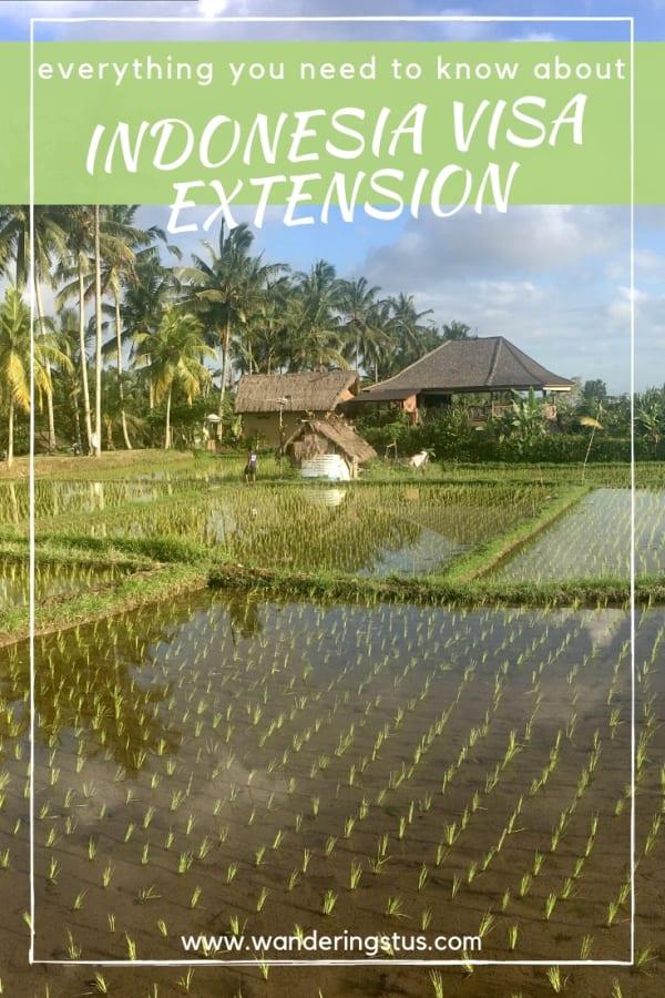 indonesia visa extension