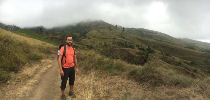 Jesse blazing the Mount Rinjani trek