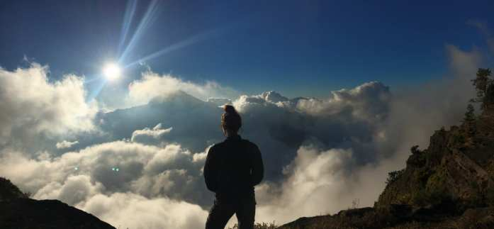 Rinjani crater rim views