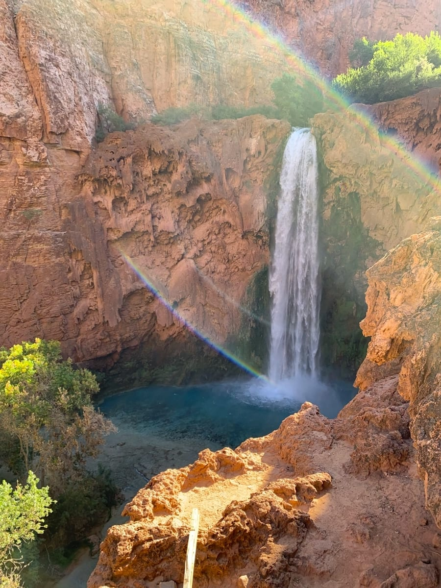 Mooney Falls in Havasui Pai Falls Arizona