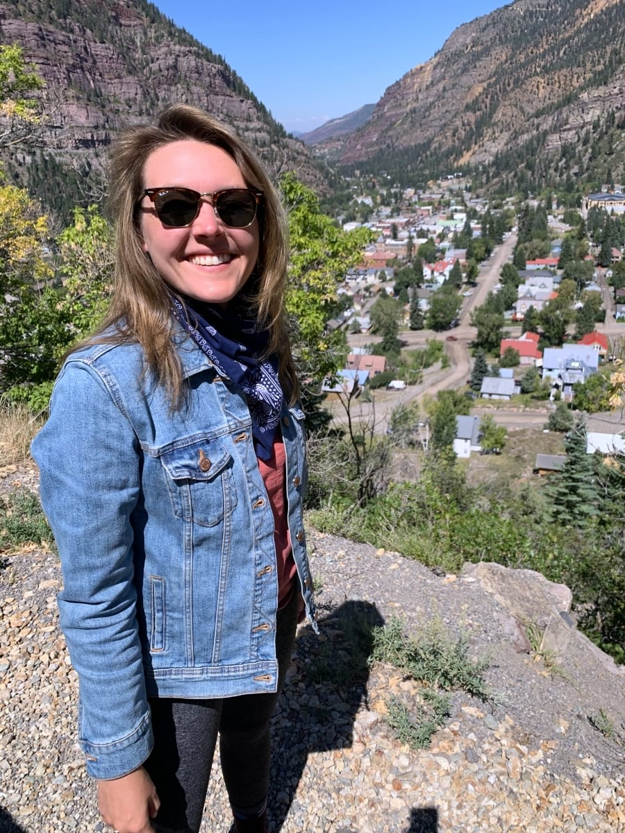 Standing above Ouray on the Million Dollar Highway