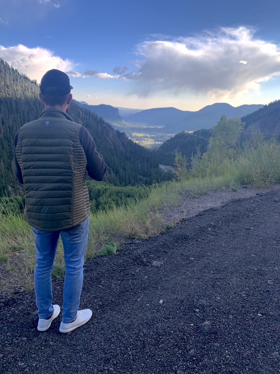 Jesse taking in Colorado views