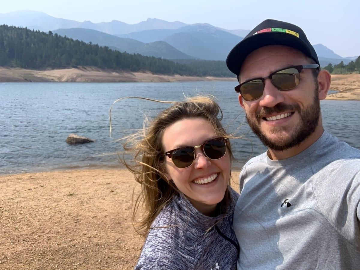 Selfies at Pikes Peak reservoirs
