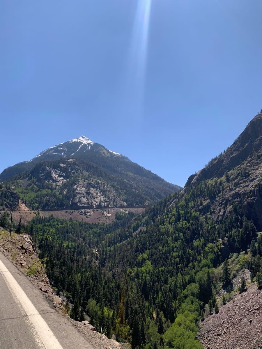 The curvy road of the million dollar highway