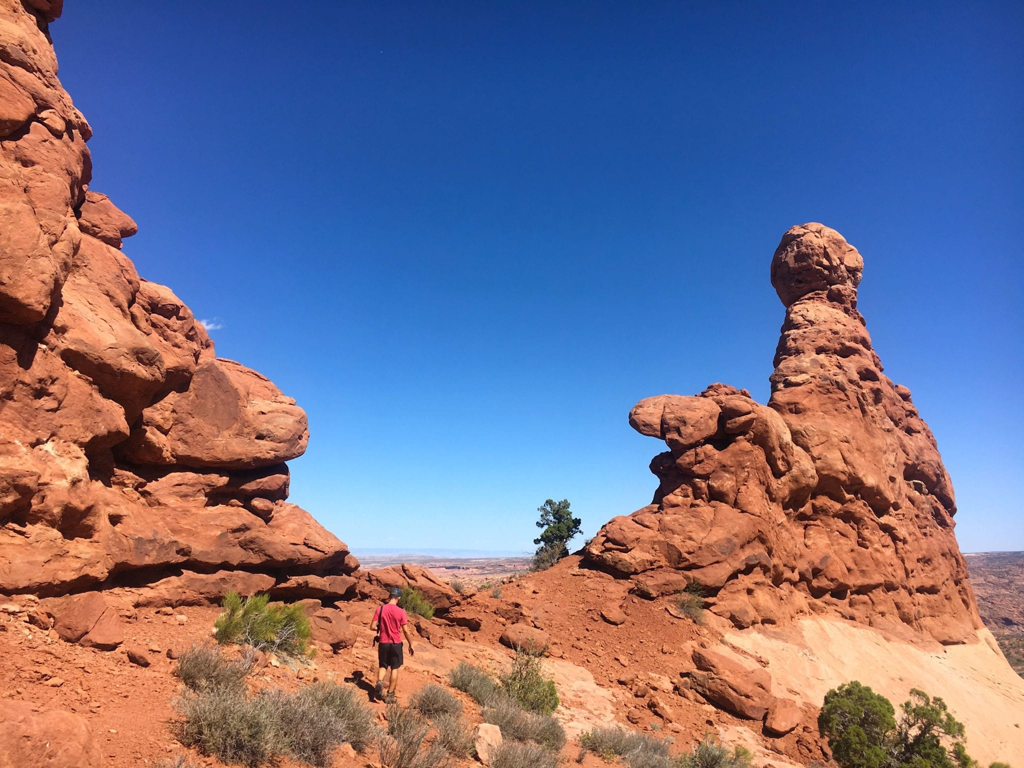 Hiking through Arches National Park