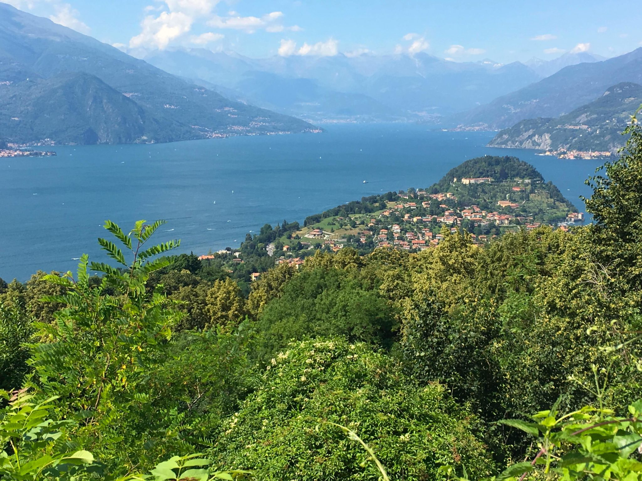 View of Lake Como from Above