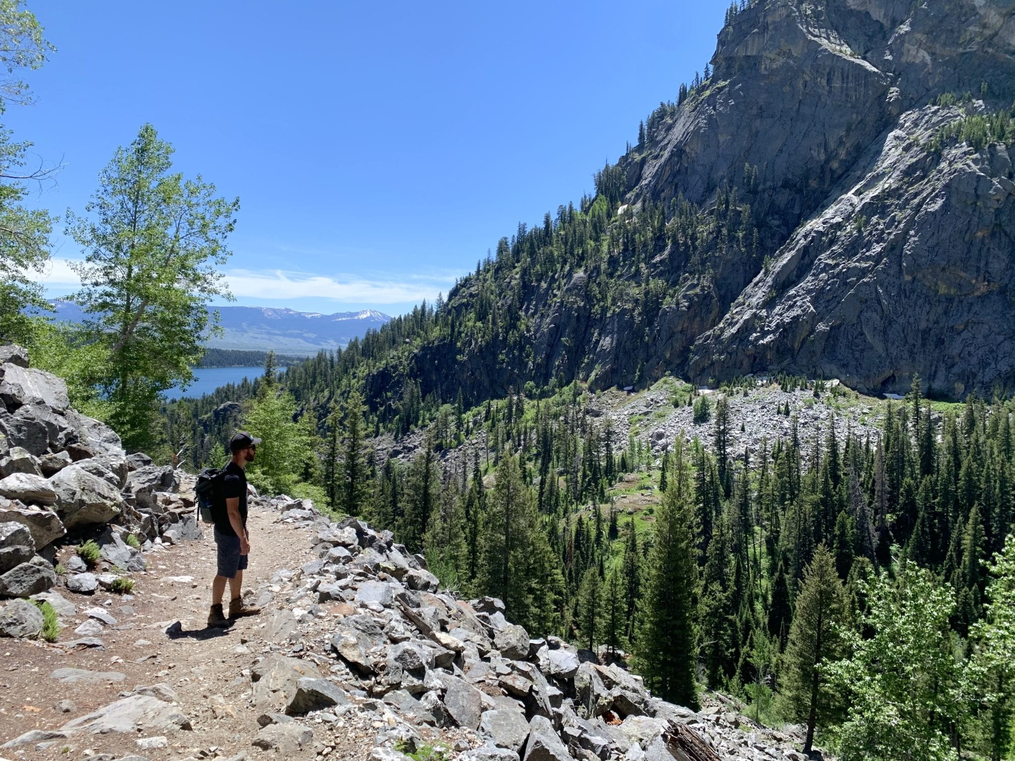 Jesse hiking in Death Canyon