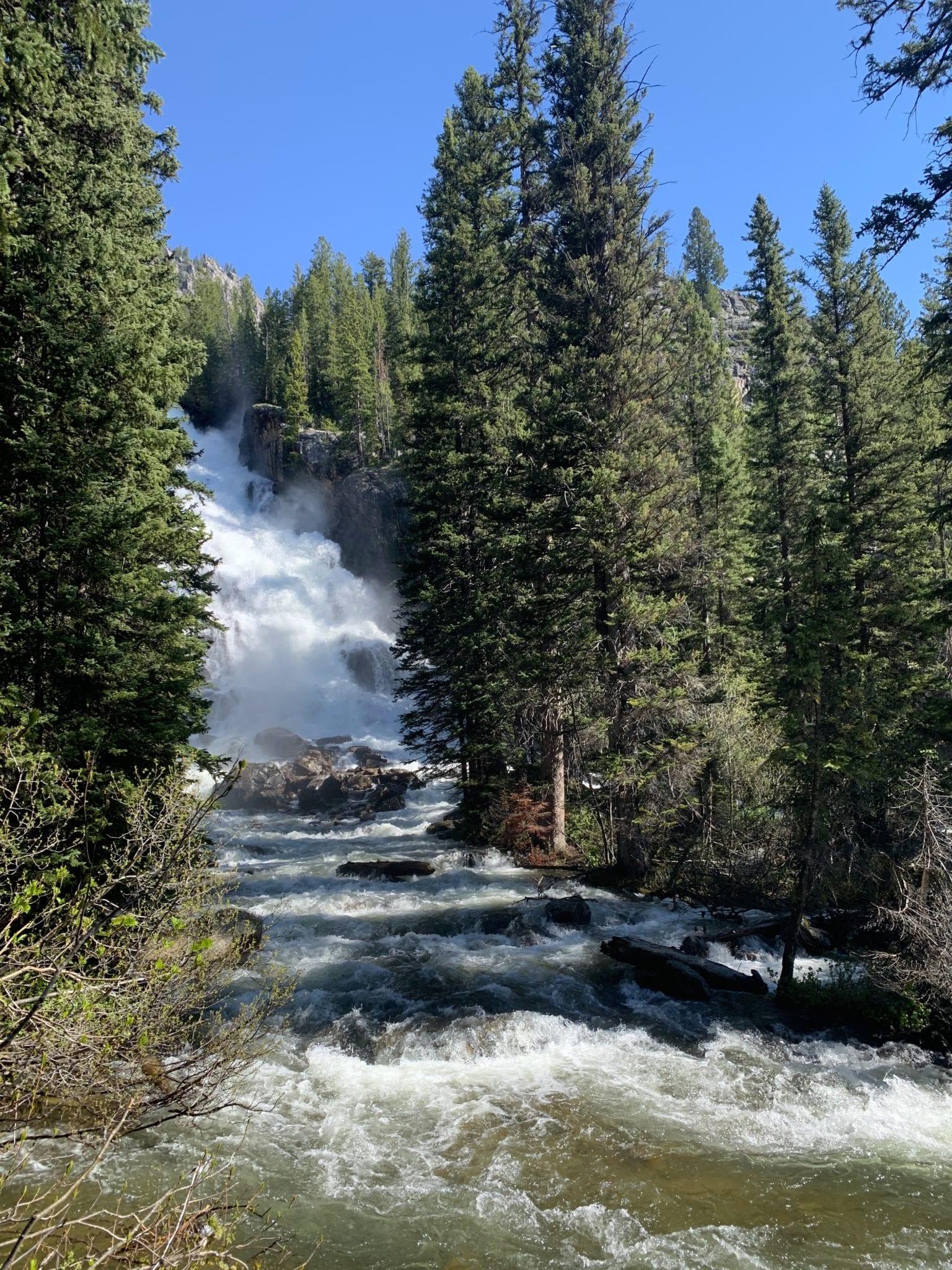 Hidden Falls at Grand Teton National Park